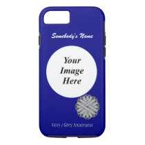 Gray/Grey Flower Ribbon Tmpl by Kenneth Yoncich iPhone 8/7 Case