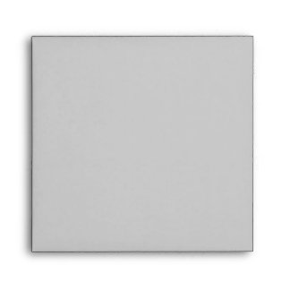 Gray Grey Square Scrollwork Monogrammed Envelopes