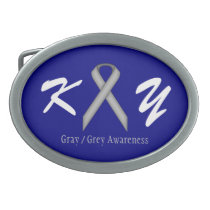 Gray / Grey Standard Ribbon Belt Buckle