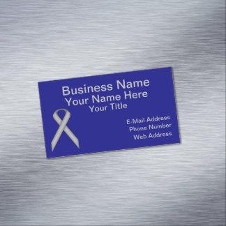 Gray / Grey Standard Ribbon Business Card Magnet