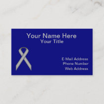 Gray / Grey Standard Ribbon by Kenneth Yoncich Business Card