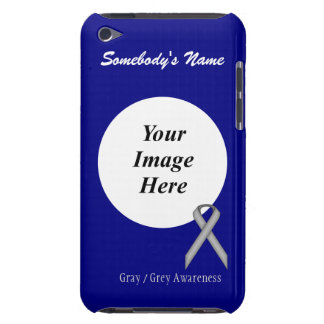 Gray / Grey Standard Ribbon by Kenneth Yoncich Case-Mate iPod Touch Case