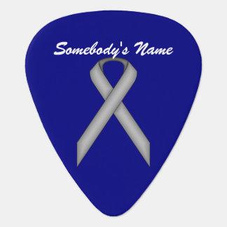 Gray / Grey Standard Ribbon by Kenneth Yoncich Guitar Pick
