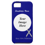 Gray / Grey Standard Ribbon by Kenneth Yoncich iPhone SE/5/5s Case
