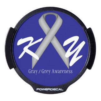 Gray / Grey Standard Ribbon by Kenneth Yoncich LED Car Decal