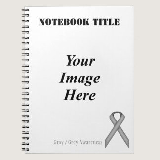 Gray / Grey Standard Ribbon by Kenneth Yoncich Notebook