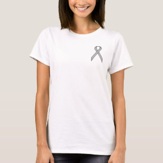 Gray / Grey Standard Ribbon by Kenneth Yoncich T-Shirt