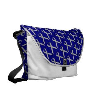 Gray / Grey Standard Ribbon Courier Bag