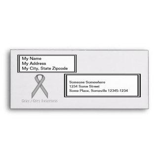Gray / Grey Standard Ribbon Envelope