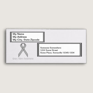 Gray / Grey Standard Ribbon Envelope