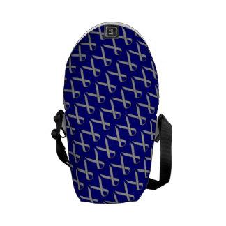 Gray / Grey Standard Ribbon Messenger Bag