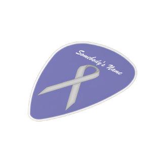 Gray / Grey Standard Ribbon Polycarbonate Guitar Pick