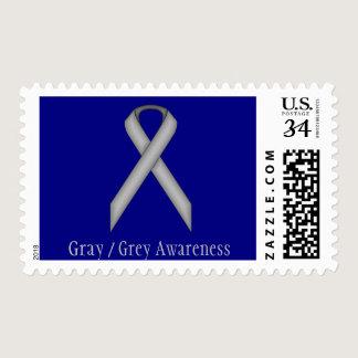 Gray / Grey Standard Ribbon Postage