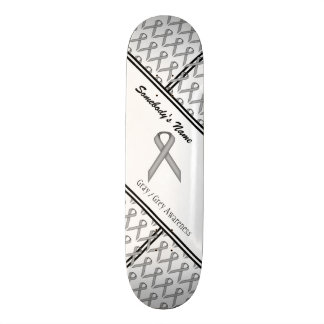 Gray / Grey Standard Ribbon Skateboard Deck