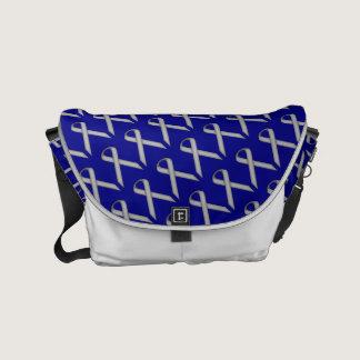 Gray / Grey Standard Ribbon Small Messenger Bag