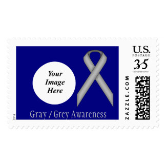Gray / Grey Standard Ribbon Stamp