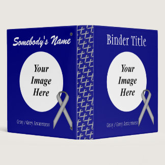 Gray / Grey Standard Ribbon Template Binder