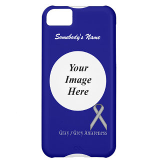 Gray / Grey Standard Ribbon Template iPhone 5C Covers