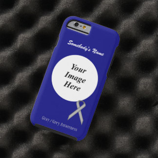 Gray / Grey Standard  Ribbon Template Tough iPhone 6 Case