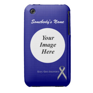 Gray / Grey Standard Ribbon Template iPhone 3 Cases