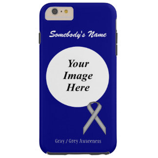 Gray / Grey Standard Ribbon Template Tough iPhone 6 Plus Case