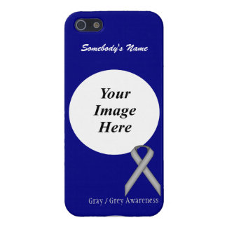 Gray / Grey Standard Ribbon Template iPhone 5 Covers