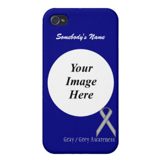Gray / Grey Standard Ribbon Template Case For iPhone 4