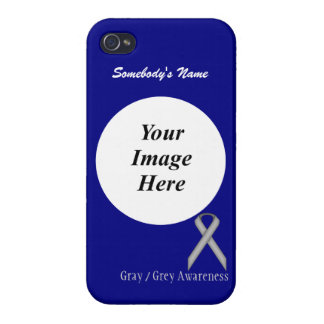 Gray / Grey Standard Ribbon Template Cover For iPhone 4