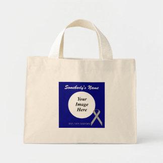 Gray / Grey Standard Ribbon Template Mini Tote Bag