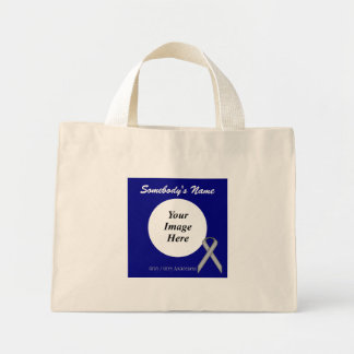 Gray / Grey Standard Ribbon Template Mini Tote Bag