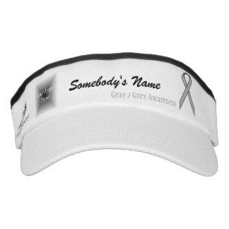 Gray / Grey Standard Ribbon Template Visor