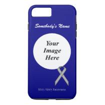 Gray/Grey Standard Ribbon Tmpl by Kenneth Yoncich iPhone 8 Plus/7 Plus Case