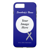 Gray/Grey Standard Ribbon Tmpl by Kenneth Yoncich iPhone 7 Plus Case