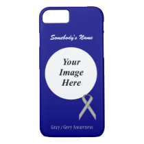 Gray/Grey Standard Ribbon Tmpl by Kenneth Yoncich iPhone 8/7 Case