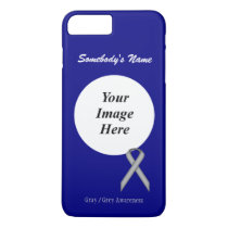 Gray/Grey Standard Ribbon Tmpl by Kenneth Yoncich iPhone 8 Plus/7 Plus Case