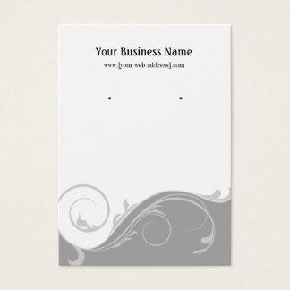 Gray Grey Swirl Custom Earring Display Card