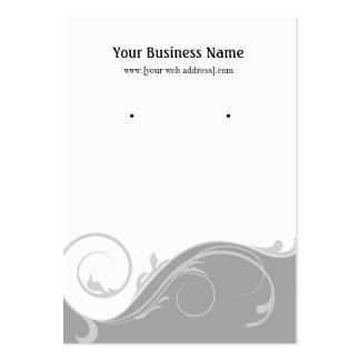 Gray Grey Swirl Custom Earring Display Card Large Business Card