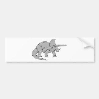 Gray/Grey Triceratops Dinosaur Bumper Sticker