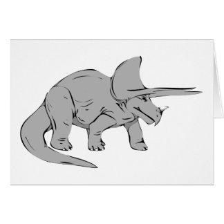 Gray/Grey Triceratops Dinosaur Card