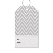Gray Grey White Chevron Modern Gift Tags