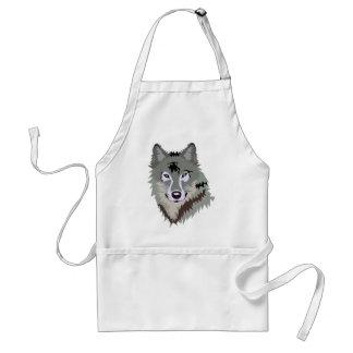 Gray/Grey Wolf Adult Apron
