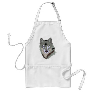 Gray Grey Wolf Aprons