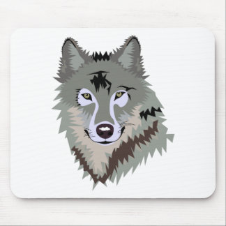 Gray/Grey Wolf Mouse Pad