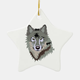 Gray/Grey Wolf Christmas Ornament