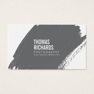 Gray Grunge Brushstroke Business Card