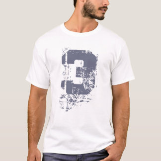 GRAY GRUNGE NUMBER 3 T-Shirt