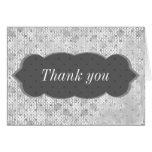"Gray Grunge textured ""thank you"" Greeting Cards"