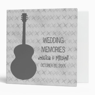 Gray Guitar Grunge Wedding Binder