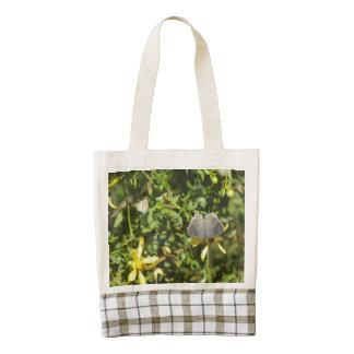 Gray Hairstreak Butterfly on Creosote Bush Zazzle HEART Tote Bag
