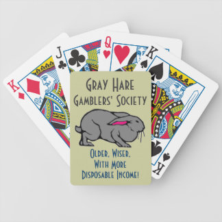 Gray Hare Gamblers Bicycle Playing Cards